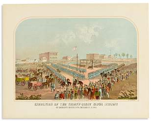 (AMERICAN INDIANS.) Hayes Litho Co. Execution of the