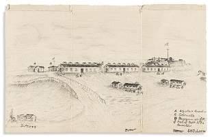 (CIVIL WAR--OHIO.) Archive of diaries, plans, sketches,