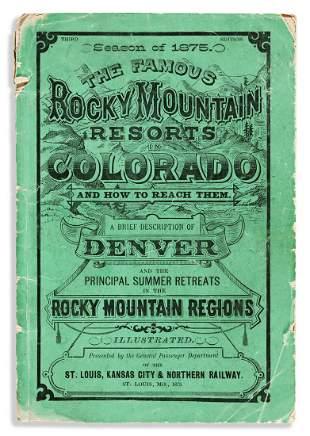 (WEST--COLORADO.) Season of 1875: A Brief Description