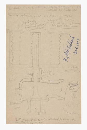 GODDARD, ROBERT H. Manuscript and Drawings. An