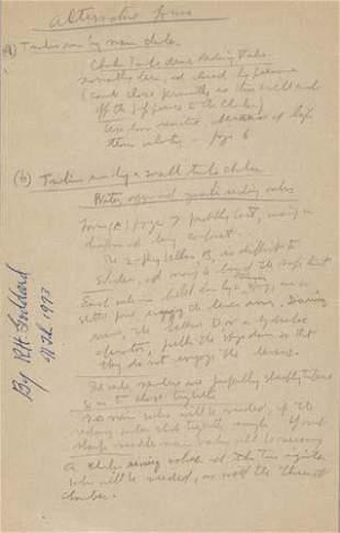 GODDARD, ROBERT H. Alternative Forms. A single