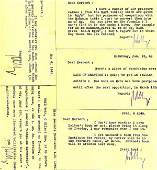 2037012: LEY, WILLY.Group of 5 Typed Letters Signed to