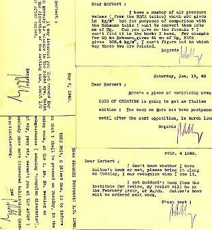 LEY, WILLY.Group of 5 Typed Letters Signed to
