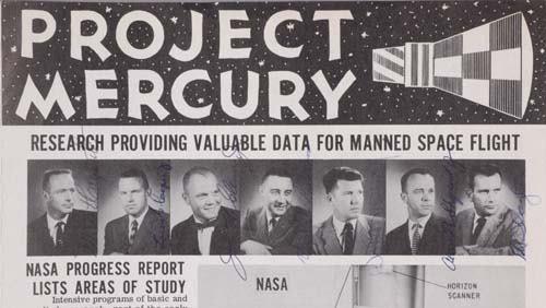 Project Mercury Brochure. NASA brochure with p