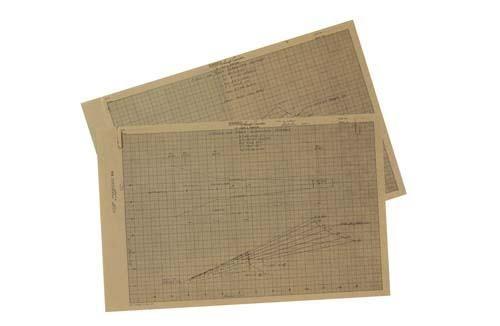 Gordon Cooper's blueprints of the Mercury Spac