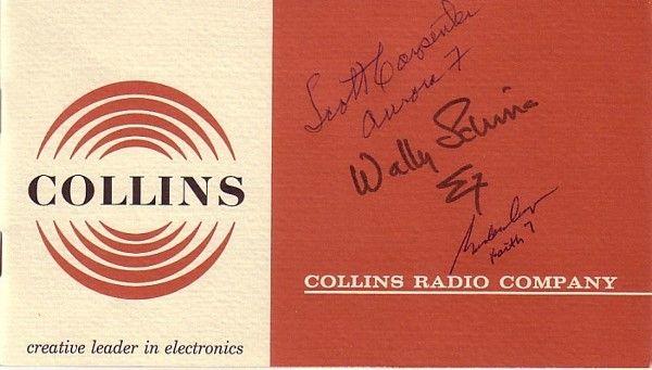 Collins Radio Co. A mini brochure that describ