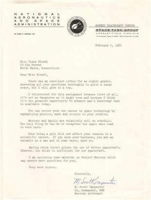 CARPENTER, M. SCOTT. Typed Letter Signed, on N