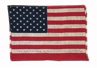 FLOWN United States Flag. An approximately 5.5