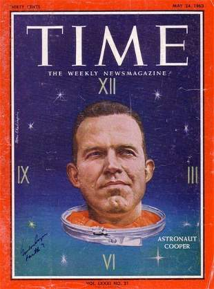Time Magazine Signed by Cooper. The complete 2