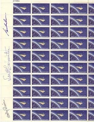 Mercury Stamp Sheet. A full sheet of the 4 cen