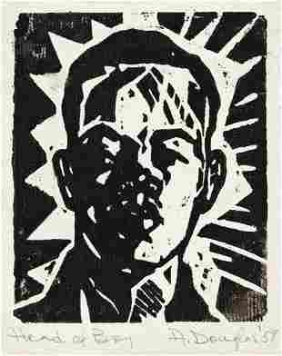 AARON DOUGLAS (1899 - 1979) Head of Boy (Portrait of