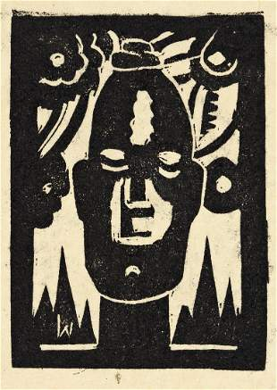 JAMES LESESNE WELLS (1902 - 1992)  Untitled (African