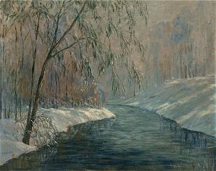 JOHN WESLEY HARDRICK (1891 - 1968) Untitled (Winter