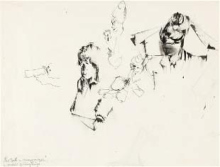NORMAN LEWIS (1917 - 1979)  Untitled (Sheet of Studies)