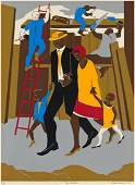 JACOB LAWRENCE (1917 - 2000) The Builders (The Family)
