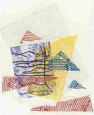 SAM GILLIAM (1933 - )  Buoy Landscape III, IV, and V.
