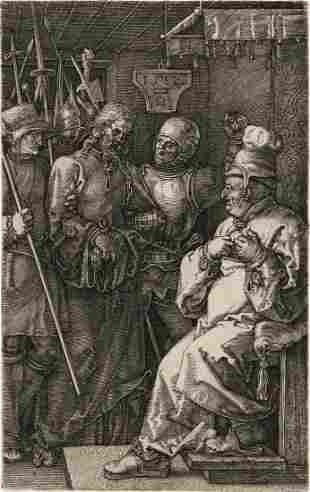 ALBRECHT DÜRER Christ before Caiaphas.