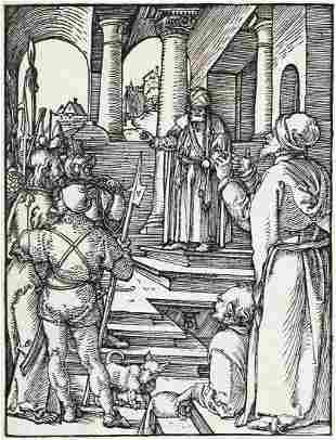 ALBRECHT DÜRER Christ before Pilate.