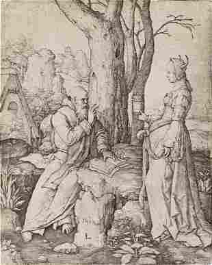 LUCAS VAN LEYDEN The Temptation of St. Anthony.