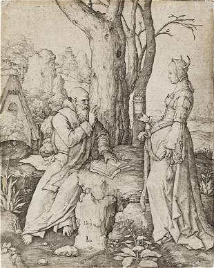 LUCAS VAN LEYDEN The Temptation of St. Anthony.