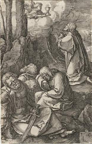 LUCAS VAN LEYDEN Christ on the Mount of Olives.