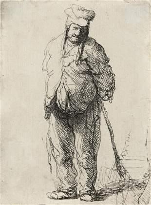 REMBRANDT VAN RIJN A Ragged Peasant with his Hands