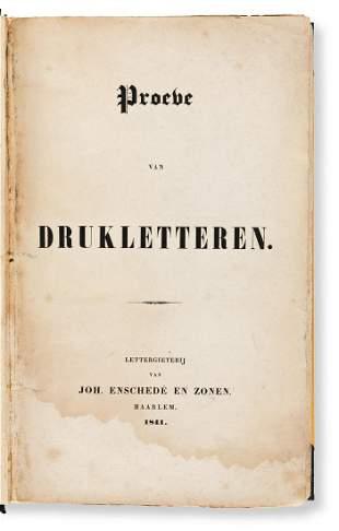[SPECIMEN BOOK — JOH. ENSCHEDE EN ZONEN]. Proebe