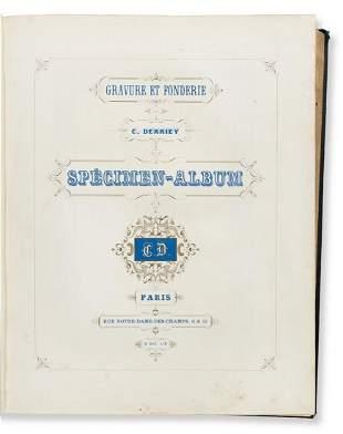 [SPECIMEN BOOK — C. DERRIEY]. Gravure et Fonderie