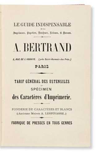 [SPECIMEN BOOK — LA FONDERIE A. BERTRAND]. Le Le