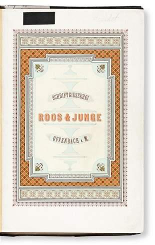 [SPECIMEN BOOK — ROOS & JUNGE]. Preis-Courant von