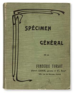 [SPECIMEN BOOK — FONDERIE TURLOT]. Spécimen