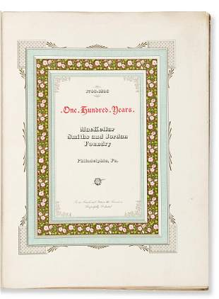 [MACKELLAR, SMITHS AND JORDAN FOUNDRY]. 1796 - 1896,