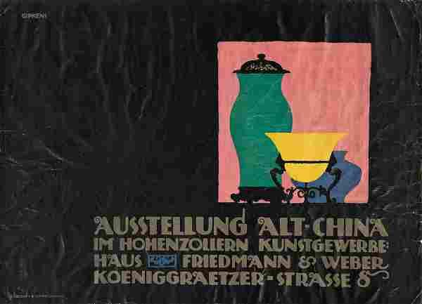 JULIUS GIPKENS (1883-1969). AUSSTELLUNG ALT - CHINA.