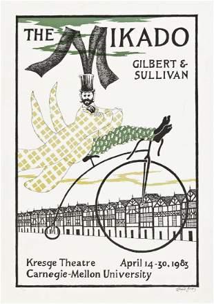 EDWARD GOREY (1925-2000).  MIKADO / GILBERT & SULLIVAN.