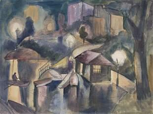 JAN MATULKA (1890 - 1972, CZECH/AMERICAN) Untitled,