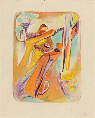 HILLA REBAY (1890 - 1967, GERMAN/AMERICAN) Untitled.