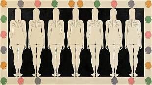 JOHN WESLEY (B. 1928, AMERICAN) 7 Maidens.