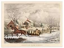 CURRIER, NATHANIEL; after Fanny Palmer. American Farm