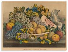 CURRIER & IVES. American Choice Fruits.
