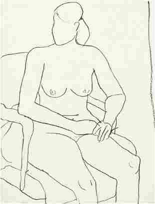 RICHARD DIEBENKORN Seated Nude.