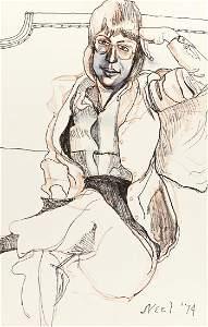 ALICE NEEL Portrait of Harriet Lyons.