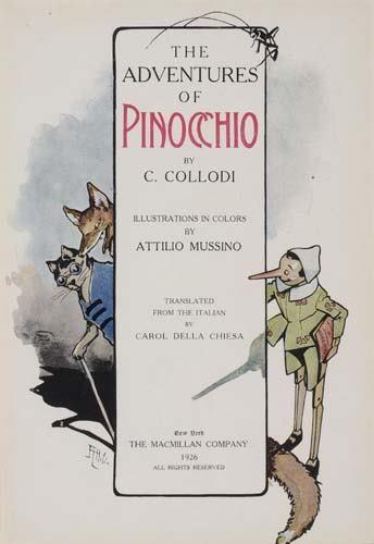 2038023: COLLODI, CARLO. The Adventures of Pinocchio.