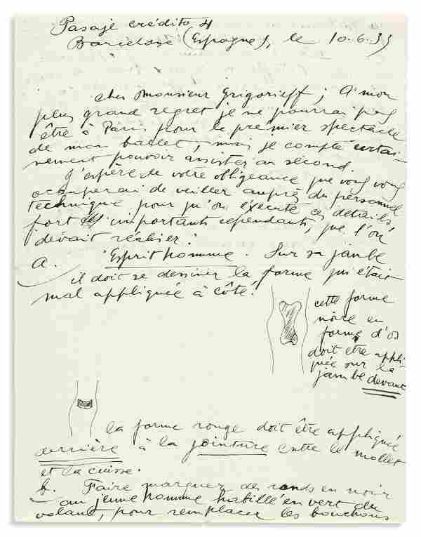 """MIRÓ, JOAN. Autograph Letter Signed, """"Miró,"""""""