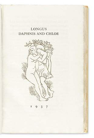 (MAILLOL, ARISTIDE.) Longus. Daphnis and Chloe.