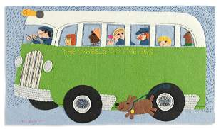"""CLARE BEATON (1947- ) """"The Wheels on the Bus."""""""