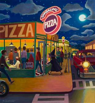 "MARK BUEHNER (1959- ) ""Dingaling Pizza."" [CHILDRENS]"