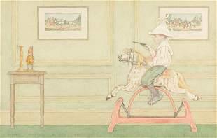 ALBERT PRENTIS BUTTON (1868-1931) A Young Dick Turpin.