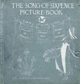 """WALTER CRANE (1845-1915) """"The Song of Sixpence Picture"""