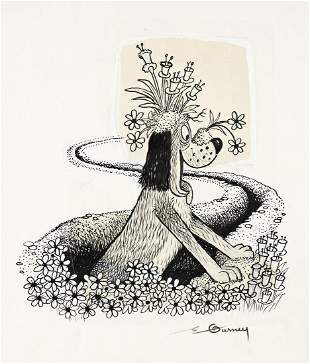 """ERIC GURNEY (1910-1992) """"The Digging-est Dog."""""""