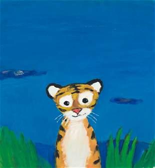 """GEORG HALLENSLEBEN (1958- ) """"Close Your Eyes."""""""
